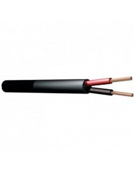 HZ1818 Cavo Speaker 100V, 2 x 1,5mm, 15A, Black, 100m