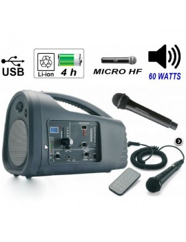 JOGGER60 DIFFUSORE CON lettore / SD USB ??incorporata e radiomicrofono