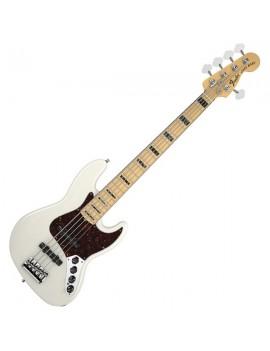 American Deluxe Jazz Bass® V (5-String) Ash, Maple Fingerboard,White Blonde