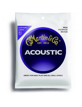MARTIN M530 - Muta per chitarra acustica extra light .010 - .014 - .023w - .030w - .039w - .047w