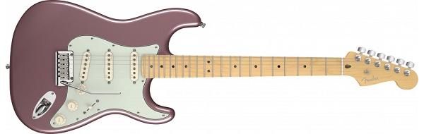 American Deluxe Stratocaster® Maple Fingerboard, Burgundy Mist Metallic