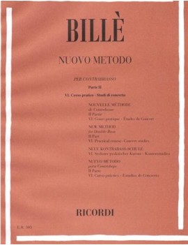 Nuovo metodo per contrabasso a 4 e 5 corde Parte 2 (6° corso pratico)(studio per concerto)