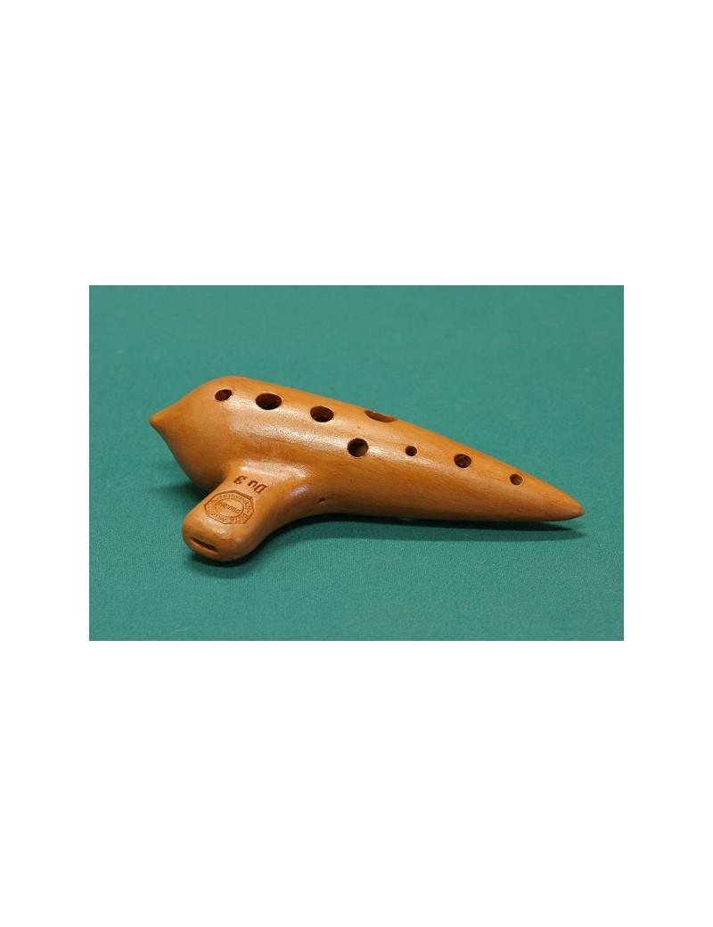 ocarina in terracotta in do, soprano o contralto, con borsa,