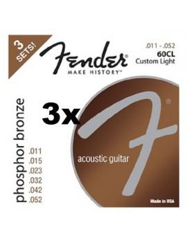 Pack 3 mute per chitarra acustica 60CL 011-052 Phosphor Bronze Wound