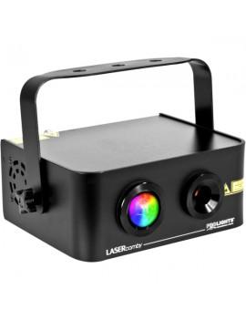 Proiettore Led RGB 9W Laser Verde 40mW, Rosso 100mW, DMX