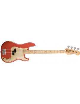 Road Worn® '50s Precision Bass® Maple Fingerboard, Fiesta Red