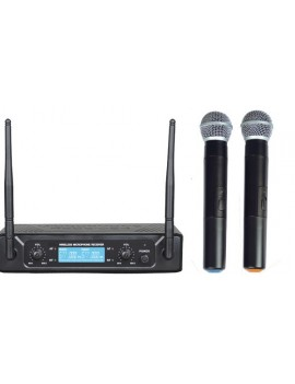 Set doppio radiomicrofono uhf 677,70/696,10