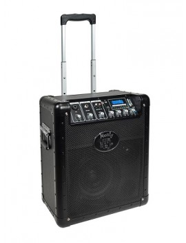 sistema PA portatile, carrello retrattile, 22W, altoparlante 8, driver 1, batteria ricaricabile co