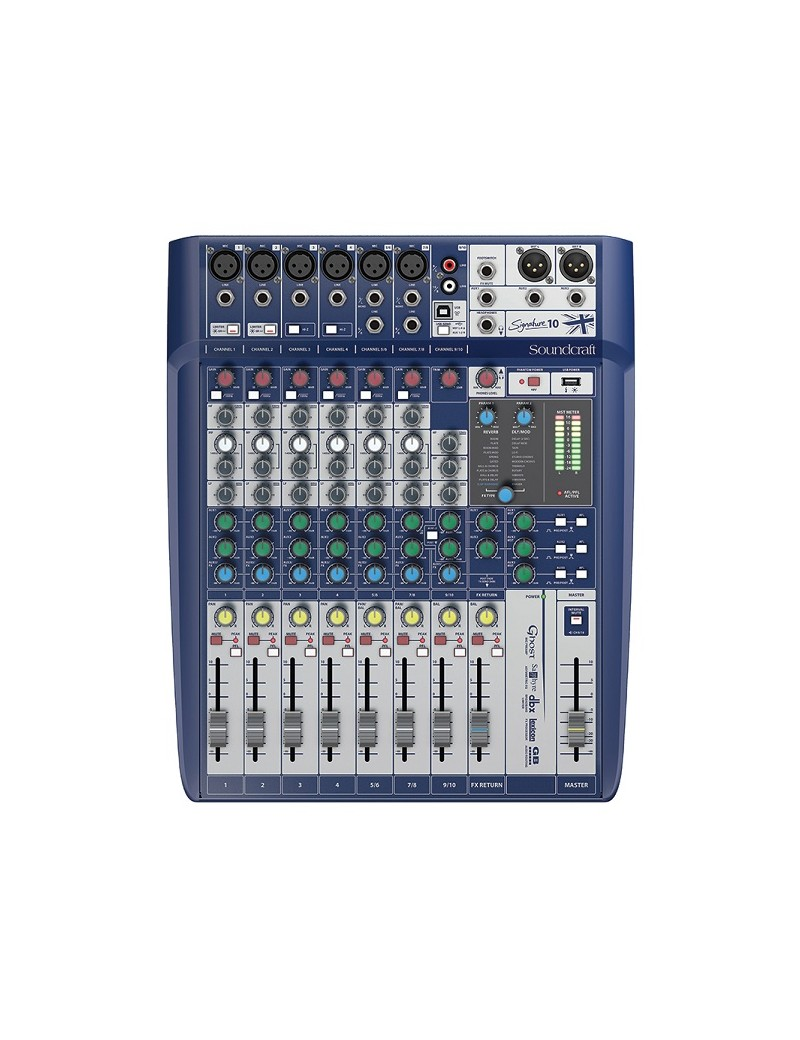 Soundcraft Signature 10 MIXER 10 INGRESSI, EFX, I/O USB 2 IN / 2OUT