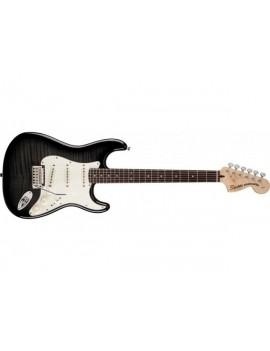 Standard Stratocaster® Flame Maple Top, Rosewood Fingerboard,Ebony Transparent