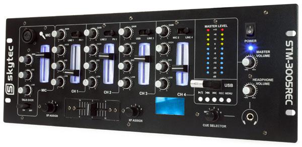 STM-3005REC Mixer 4 CANALI  EQ USB/MP3 Record