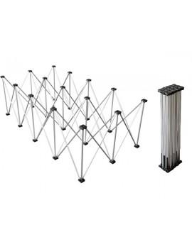 Struttura reticolare in alluminio per sistema Litestage, 2x1 m, h 40 cm
