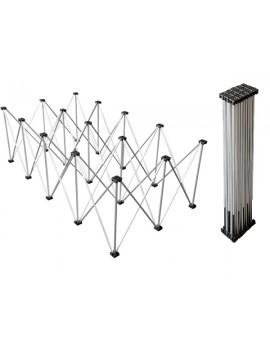Struttura reticolare in alluminio per sistema Litestage, 2x1 m, h 60 cm