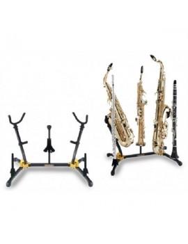 Supporto per 2 sax alto e/o tenore, 1 sax soprano, 2 flauti e/o clarinetti