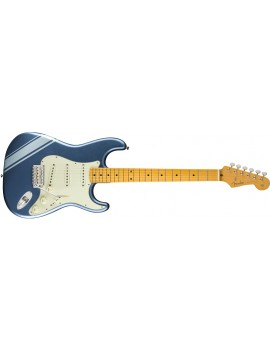 Traditional 50s Strat manico acero placid blue con strisce