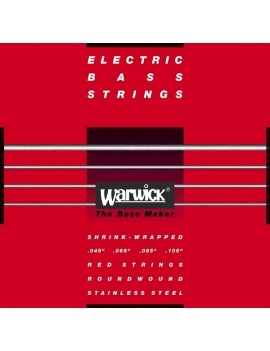 "WARWICK 42210 ML 4 040/100"" Medium Light RED STRINGS MUTA PER BASSO 4 CORDE"