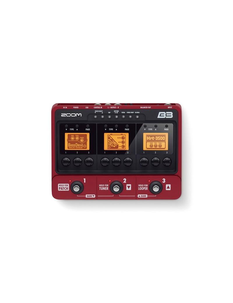 B3 - per basso - pedaliera multieffetto e amp-simulator