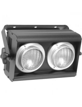Batteria per 2 lampade PAR36 (non incluse), in linea, con attacco a vite.