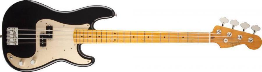 50s Precision Bass® Lacquer, Maple Fingerboard, Black