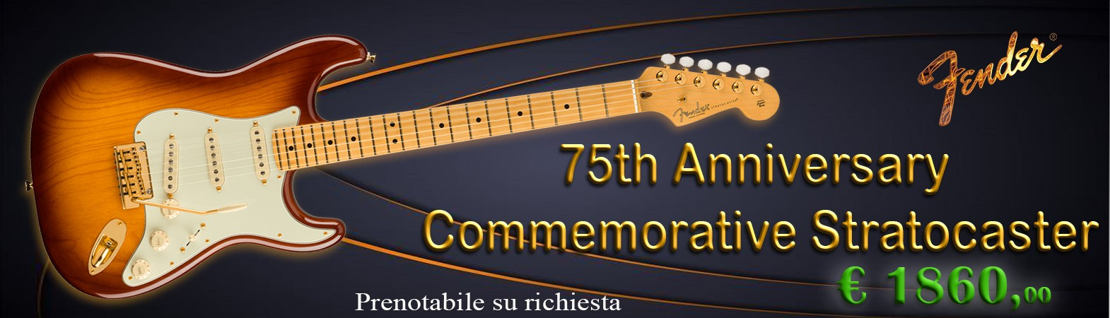 75TH ANNIVERSARY COMMEMORATIVE STRATOCASTER
